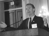 As part of a Grassroots program for one client, Janet arranged for Members of Congress to speak at a Legislative breakfast. Here Rep. Chris Van Hollen (D-MD) addresses the audience.